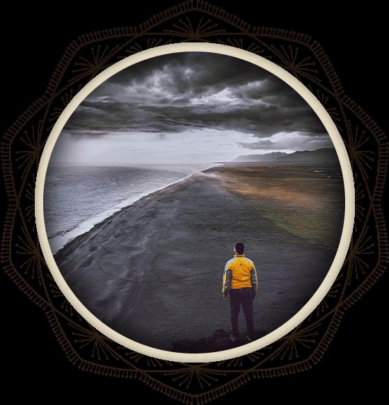 Man Facing Storm